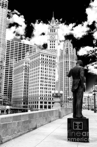 Wall Art - Photograph - Irv Kupcinet Sculpture Chicago by John Rizzuto