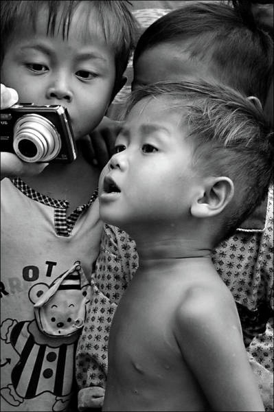 Cambodia Photograph - Is That Me by Marion Galt