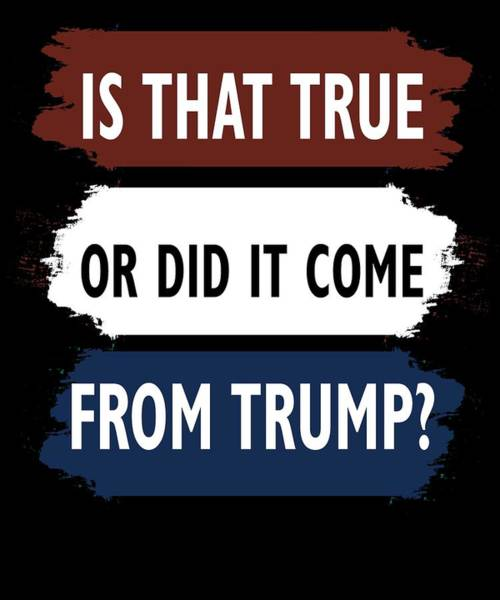 Midterm Wall Art - Digital Art - Is That True Or Did It Come From Trump by Trisha Vroom
