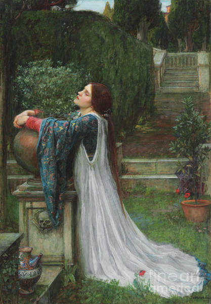 Kneeling Painting - Isabella And The Pot Of Basil by John William Waterhouse