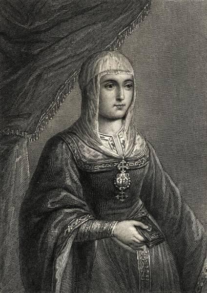 Castilla Drawing - Isabella I Byname Isabella The by Vintage Design Pics