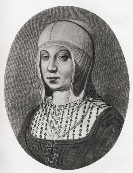 Castilla Drawing - Isabella I Of Castile, 1451 To 1504 by Vintage Design Pics