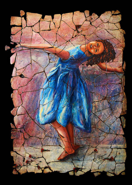 Painting - Isadora Duncan - 1 by OLena Art - Lena Owens