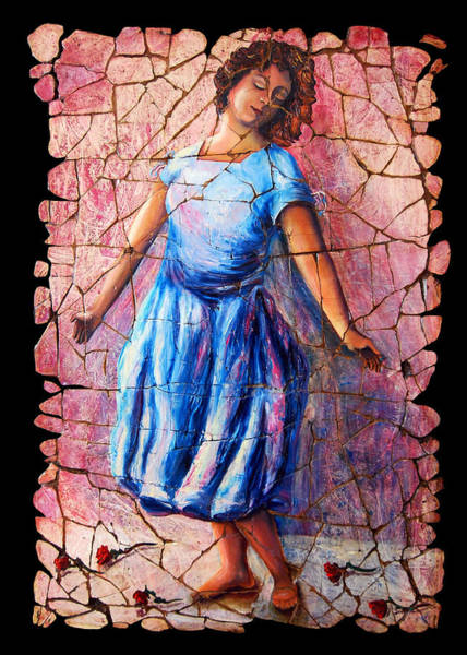 Painting - Isadora Duncan - 2 by OLena Art - Lena Owens