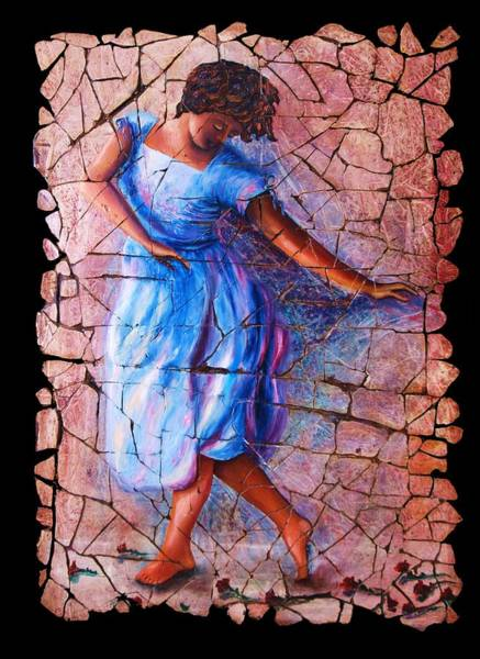 Painting - Isadora Duncan - 3 by OLena Art - Lena Owens