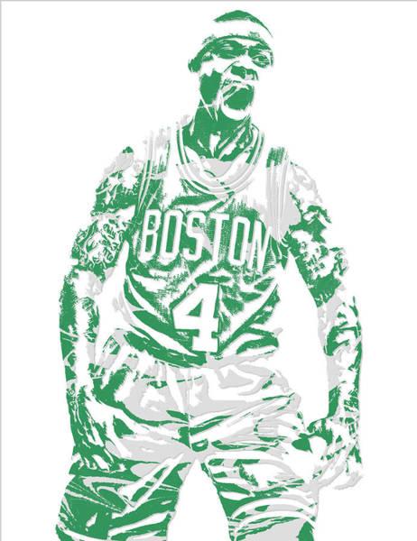 Celtic Mixed Media - Isaiah Thomas Boston Celtics Pixel Art 16 by Joe Hamilton