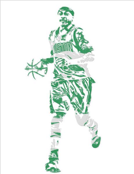 Celtic Mixed Media - Isaiah Thomas Boston Celtics Pixel Art 17 by Joe Hamilton