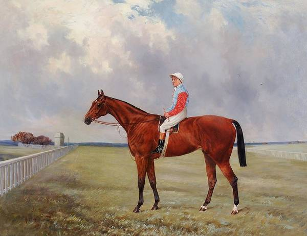 Wall Art - Painting - Isinglass With Tommy Loates Up by Henry Frederick