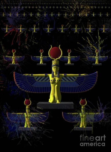 Gautama Digital Art - Isis - Goddess Of Egypt by Raphael Terra