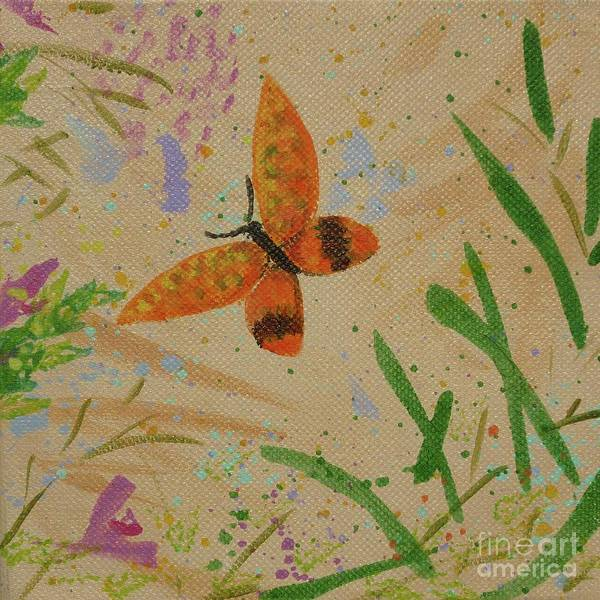 Island Butterfly Series 3 Of 6 Art Print