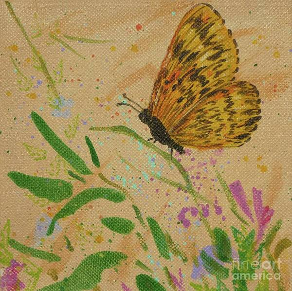 Island Butterfly Series 4 Of 6 Art Print
