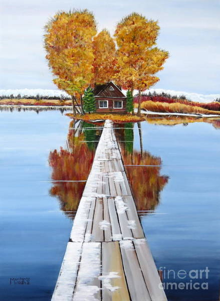 Painting - Island Cabin 2 by Marilyn  McNish