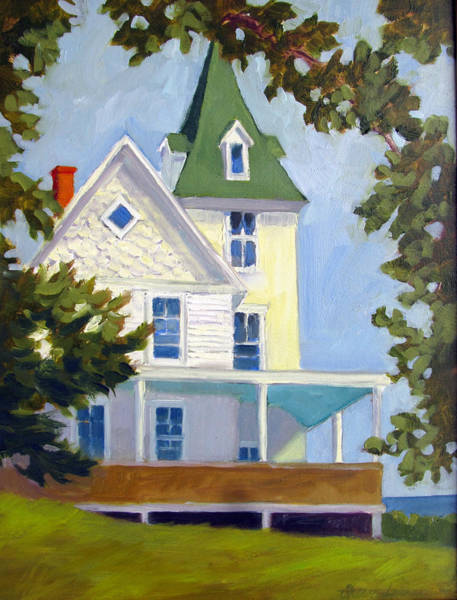 Painting - Island Cottage by Sharon Lehman