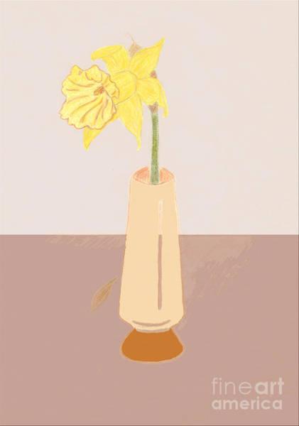 Drawing - Island Daffodil by Donna L Munro