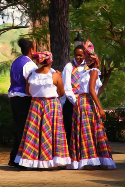 Us Virgin Islands Painting - Island Dancers by Linda Morland