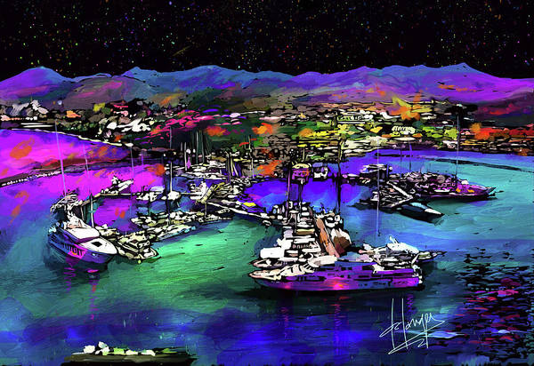 Painting - Island Harbor by DC Langer