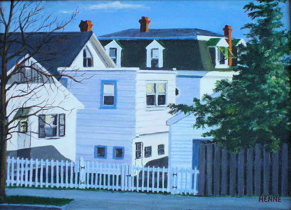 Painting - Island Heights Back Yards by Robert Henne