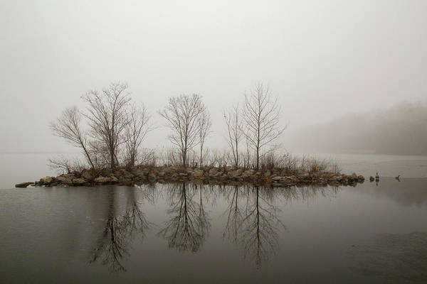 Photograph - Island In The Fog by Pete Hendley