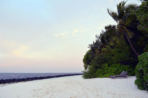 Photograph - Island In The Maldive At Sunset by Oana Unciuleanu