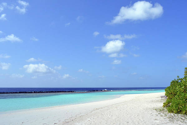 Photograph - Island In The Maldives With Beautiful Turquoise Water by Oana Unciuleanu