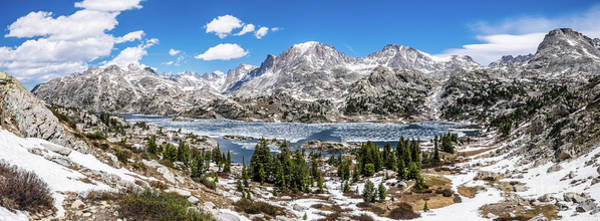 Wind River Range Wall Art - Photograph - Island Lake Panoramic by Olivier Steiner