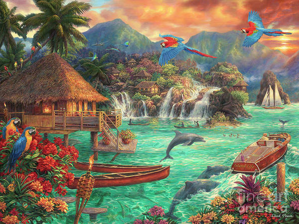 Tropical Bird Wall Art - Painting - Island Life by Chuck Pinson