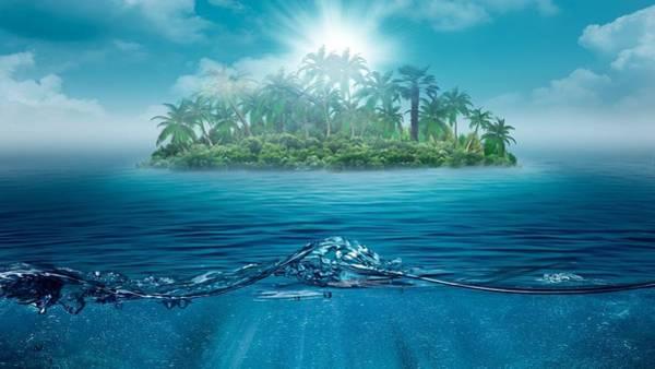Landscape Digital Art - Island by Maye Loeser