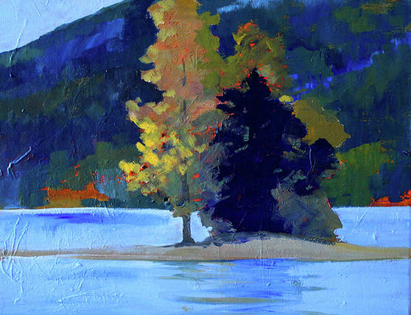 Wall Art - Painting - Island by Nancy Merkle