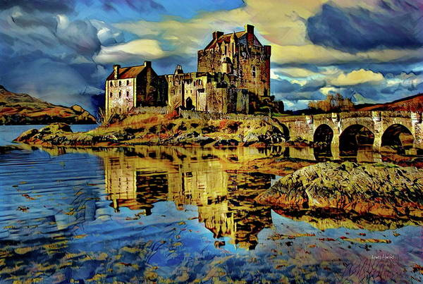 Eilean Donan Castle Digital Art - Island Of Donnan - Scotland by Russ Harris