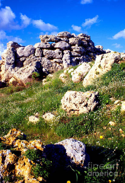 Wall Art - Photograph - Island Of Gozo Ggantija Temple by Thomas R Fletcher