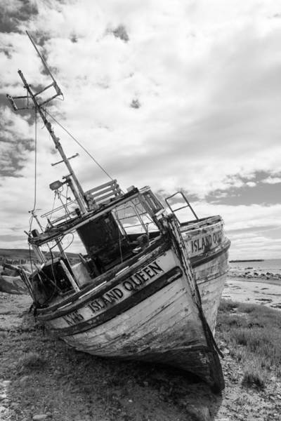 Ship Wreck Photograph - Island Queen - Abandoned Boat by Chris Dale