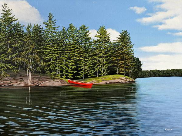 Painting - Island Retreat by Kenneth M Kirsch