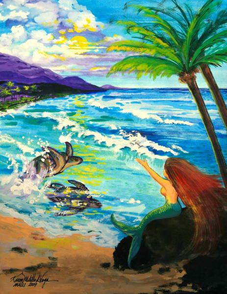 Wall Art - Painting - Island Sisters by Karon Melillo DeVega