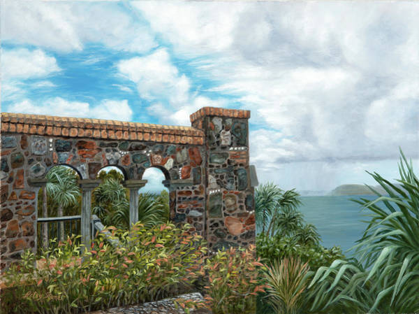 Us Virgin Islands Painting - Island Stones by Alice Betsy Stone