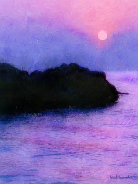 Wall Art - Painting - Island Sunrise by Kenneth Krolikowski
