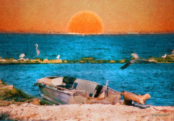 Wall Art - Painting - Island Sunset by Kenneth Krolikowski