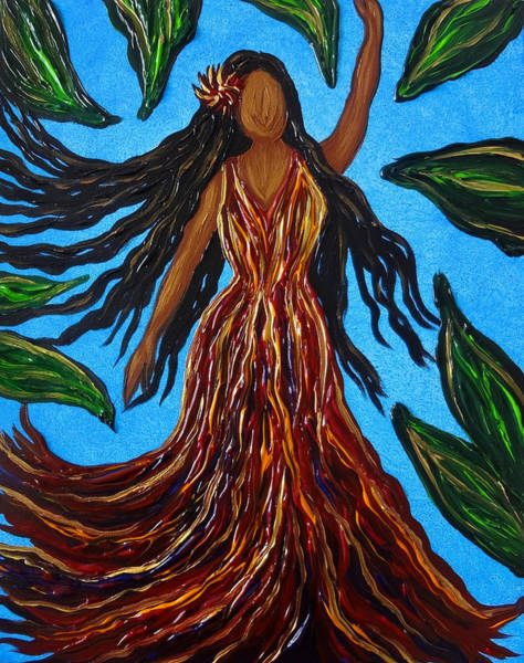 Painting - Island Woman by Michelle Pier