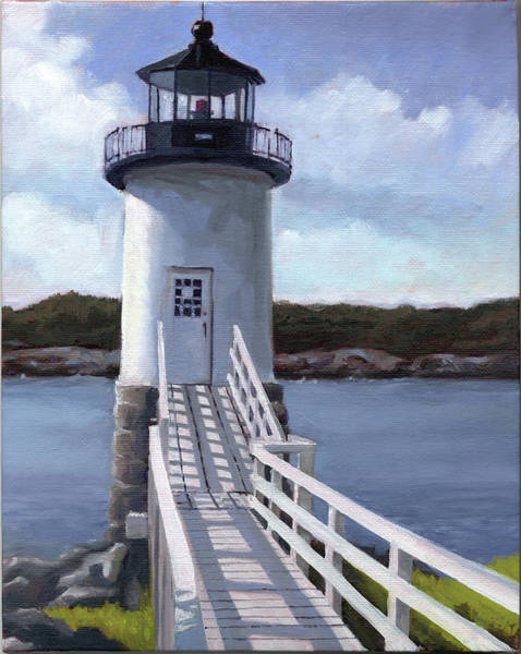 Isle Au Haut Lighthouse Art Print