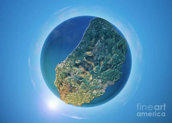 Little Planet Digital Art - Isle Of Man 3d Little Planet 360-degree Sphere Panorama by Frank Ramspott