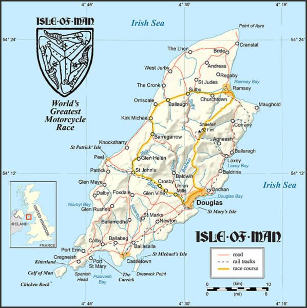 Wall Art - Digital Art - Isle Of Man Map by Gary Grayson