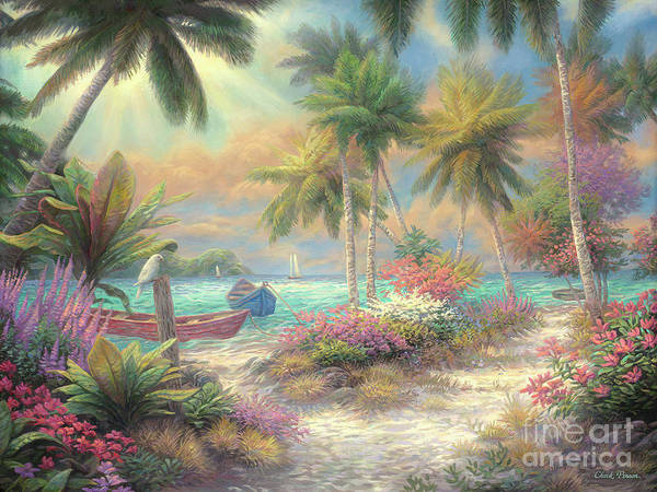 Tropical Garden Painting - Isle Of Palms by Chuck Pinson