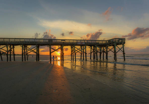 Photograph - Isle Of Palms Pier Sunrise by Donnie Whitaker