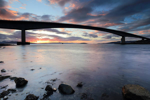 Photograph - Isle Of Skye Bridge Sunset by Grant Glendinning