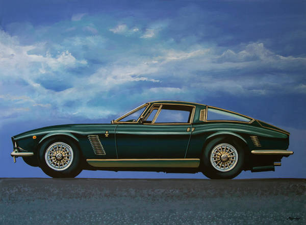 Oldtimer Wall Art - Painting - Iso Grifo Gl 1963 Painting by Paul Meijering