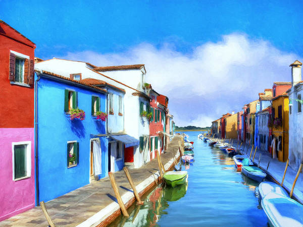 Painting - Isola Di Burano by Dominic Piperata