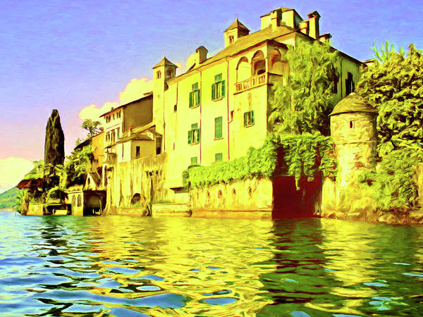 Lake Como Painting - Isola San Giulio by Dominic Piperata