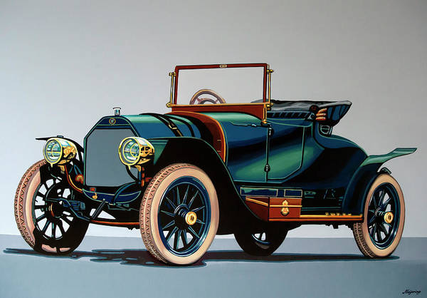 Wall Art - Painting - Isotta Fraschini Tipo 1911 Painting by Paul Meijering