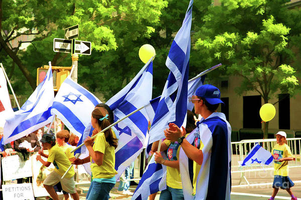 Shofar Wall Art - Photograph - Israel Day People  by Chuck Kuhn