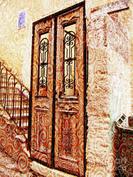 Digital Art - Israel Door Swirl by Donna L Munro