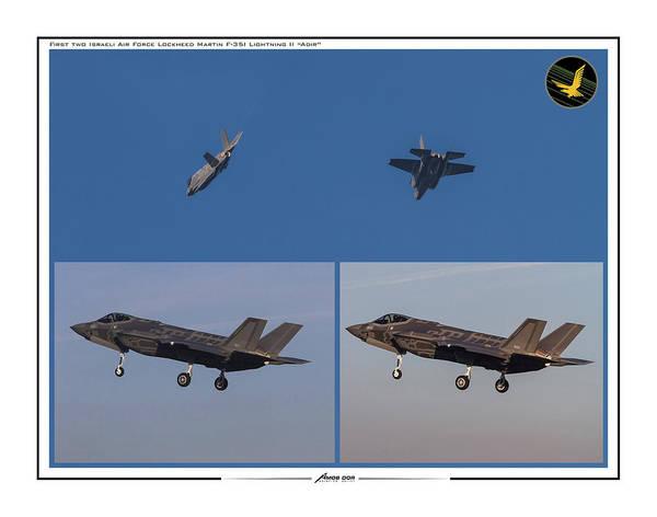 Digital Art - Israeli Air Force First Two F-35i Adir by Amos Dor